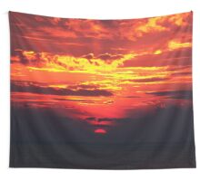 Devilish Sunset Wall Tapestry