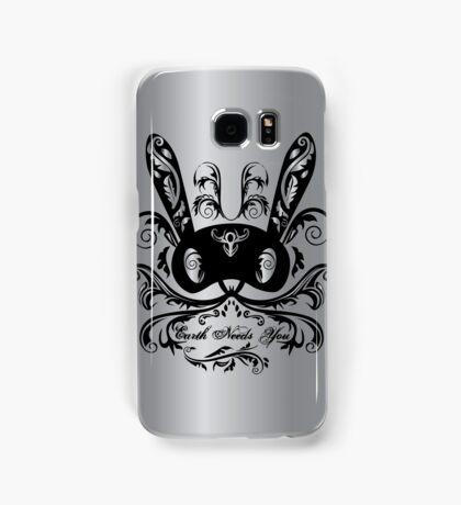 'Earth Needs You' Matoki Metallic Design Samsung Galaxy Case/Skin