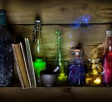 Magic Potion Bottles by Andrew Bret Wallis