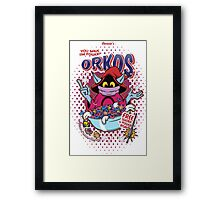 Powerful Breakfast! Framed Print