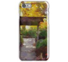 Japanese Garden in Autumn iPhone Case/Skin