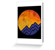 Vintage Sunset In The Mountain Greeting Card