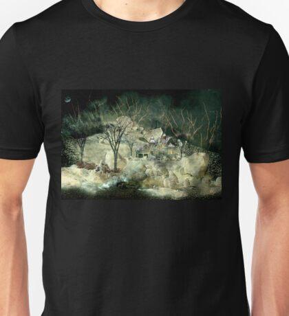 Christmas night landscape Unisex T-Shirt
