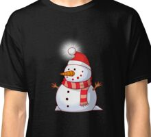 Animated Snowman Glass T Shirt Christmas Wishes Tradition	 Classic T-Shirt