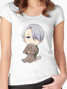 Yuri!!! on Ice Chibi Viktor 2 Women's Fitted Scoop T-Shirt