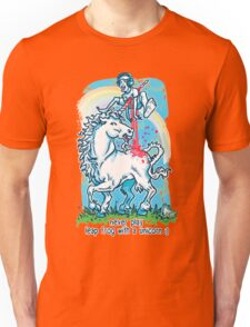 Legendary Leap Frog with Mythical Unicorn Unisex T-Shirt
