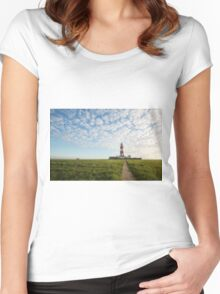 Happisburgh Lighthouse, Norfolk, UK. Women's Fitted Scoop T-Shirt