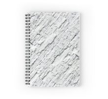 Old cracked white painted texture Spiral Notebook