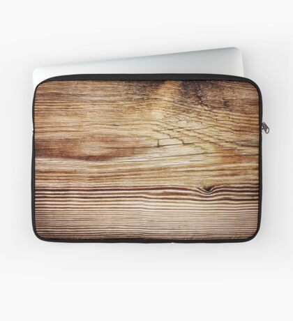 Old stripy wooden texture Laptop Sleeve