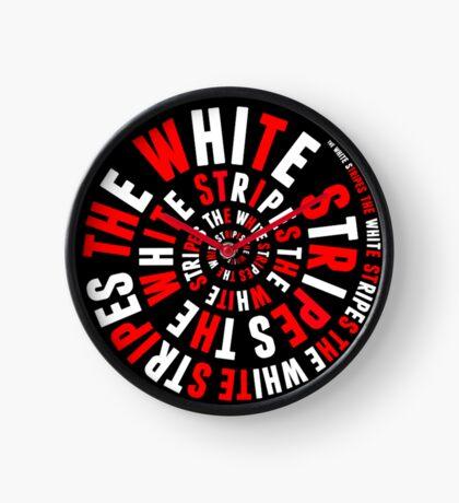 White Stripes Circle Clock