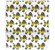 Black and Gold Dog Pattern Poster