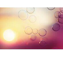 Tranquil background with soap bubbles Photographic Print