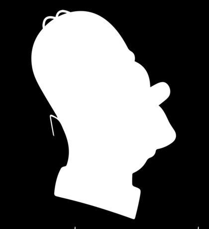 Homer Simpsons' Silhouette Sticker
