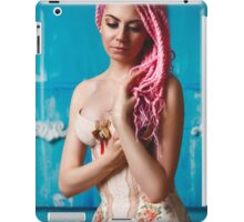 Freaky young female model wearing corset iPad Case/Skin