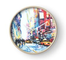 """Abstract & Artsy - Collection by forty-nine """"The City Never Sleeps"""" Clock"""
