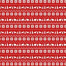 Chow Chow Silhouettes Christmas Sweater Pattern by Jenn Inashvili