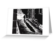 Down a Hidden Alley Greeting Card