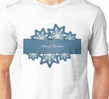 Snowflakes applique background Unisex T-Shirt