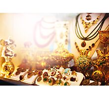 Eastern jewelry market Photographic Print
