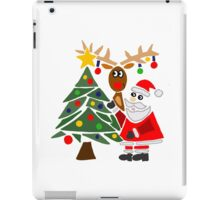 Cool Funny Mary and Chris Moose Christmas Cartoon iPad Case/Skin