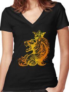 Lion King Women's Fitted V-Neck T-Shirt