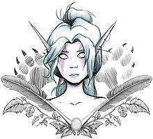 Night Elf Druid Sketch by NoodlesForNerds