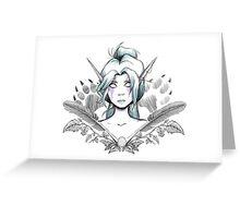 Night Elf Druid Sketch Greeting Card
