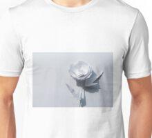 White paper flower on white Unisex T-Shirt