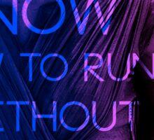 """Rey """"I Know How to Run"""" Sticker"""