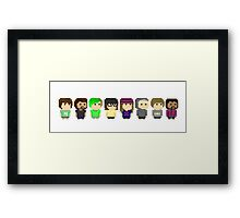 Pixel Friends Framed Print