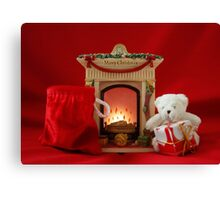 Waiting for Father Christmas Canvas Print