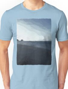 Driftwood on the Beach in the Dying Light Unisex T-Shirt