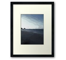 Driftwood on the Beach in the Dying Light Framed Print