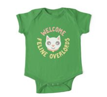 Welcome Feline Overlords One Piece - Short Sleeve