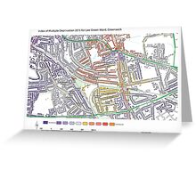 Multiple Deprivation Lee Green ward, Greenwich Greeting Card