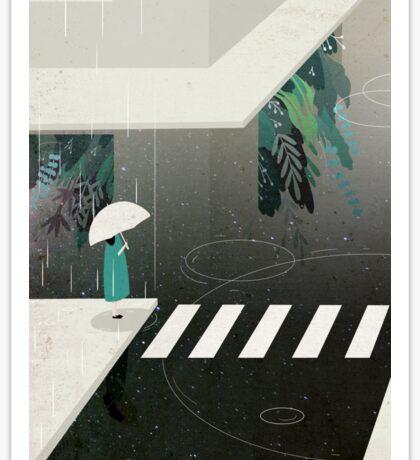 let it rain Sticker