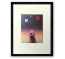 Space Chase Framed Print