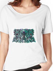 Radiant Abstract Butterfly Elephant Revision Women's Relaxed Fit T-Shirt