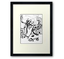 Smoking Hand Framed Print
