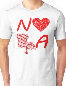 I heart NOLA (Red) Unisex T-Shirt
