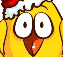 Funny Santa Chicken Sticker