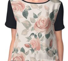 Background with beautiful roses Chiffon Top