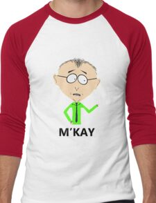 M'KAY Men's Baseball ¾ T-Shirt
