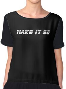 Make It So - Black T-Shirt Chiffon Top