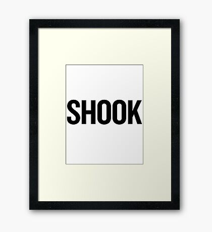 Shook 2 (Black) Framed Print