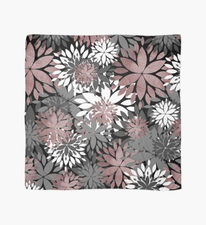 Pretty rose gold floral illustration pattern Scarf