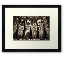 Gothic Background with Chimeras Framed Print