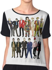 Doctor Who - Alternate Costumes 13 Doctors Chiffon Top