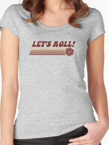Let's Roll Roleplaying Game Dice Women's Fitted Scoop T-Shirt