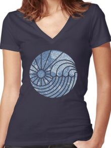 Sea of Serenity Women's Fitted V-Neck T-Shirt